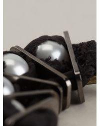 Lanvin | White Grosgrain Hoop Earrings | Lyst