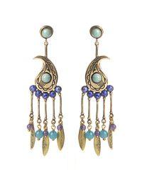 Etro | Blue Paisley Stone-embellished Earrings | Lyst