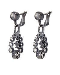 Bottega Veneta | Metallic Cubic-zirconia And Silver Drop Earrings | Lyst