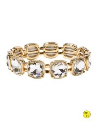 Banana Republic | Metallic Factory Faux-gem Stretch Bracelet | Lyst