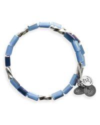 ALEX AND ANI - Blue Vintage 66 Allure Wrap Bangle - Lyst