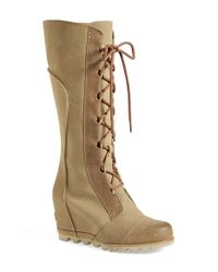 Sorel | Brown 'Cate The Great' Waterproof Wedge Boot | Lyst