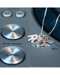 Edge Only - Metallic Rock Pendant Silver - Lyst