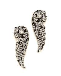 Lulu Frost Metallic Rise Earrings - Clear