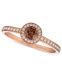 Le Vian - Brown Chocolate And White Diamond Ring (3/8 Ct. T.w.) In 14k Rose Gold - Lyst