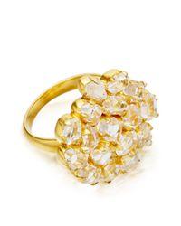 Pippa Small Metallic Herkimer Diamond Invisible Set Ring