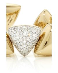 Vhernier Metallic Freccia Pave White Gold Bracelet