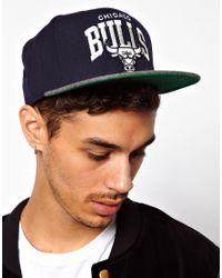 Mitchell & Ness - Blue Bulls Flannel Snapback Cap for Men - Lyst