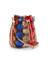 Proenza Schouler - Blue Large Printed Snakeskin Bucket Bag - Lyst