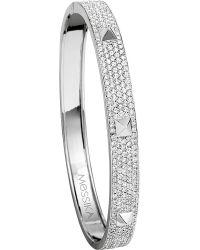 Messika - Metallic Spiky 18ct White-gold Diamond Bangle - Lyst