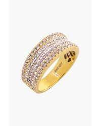 Bony Levy | Metallic Five Row Diamond Ring | Lyst