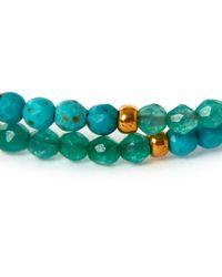 Tai Blue Turquoise Pom-pom Stone Beaded Bracelet