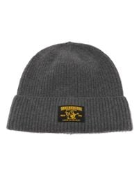 True Religion - Gray Ribbed Beanie Hat Heather for Men - Lyst