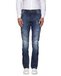 John Galliano - Blue Denim Trousers for Men - Lyst