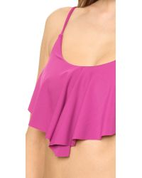 Tori Praver Swimwear Purple Gina Bikini Top