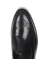 Nicholas Kirkwood Black Laser-Cut Leather Loafers for men