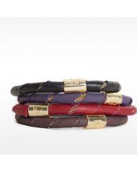 Linea Pelle | Black Leather Wrapped Bracelet | Lyst
