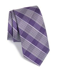 Calibrate | Purple Check Silk Tie for Men | Lyst