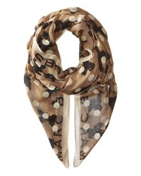 Marc By Marc Jacobs | Gray Dotty Flora Scarf | Lyst