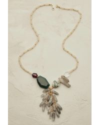 Anthropologie | Green Pari Pendant Necklace | Lyst