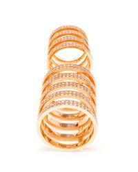 Repossi | Metallic Berbère 18-karat Gold And Diamond Ring | Lyst
