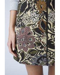 TOPSHOP - Multicolor Jacquard Zip A-Line Skirt - Lyst