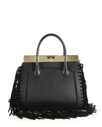 Dee Ocleppo | Black Roma Medium Convertible Fringed Leather Tote | Lyst