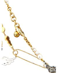 Lulu Frost | Metallic Kinship Pearl And Pin Necklace | Lyst
