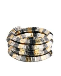 ASOS - Metallic Mix Metal Coil Anklet - Lyst