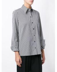 Michael Kors - Black Pinstripe Shirt - Lyst