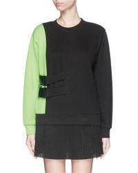 Fyodor Golan - Black Double Buckle Colourblock Cotton Sweatshirt - Lyst
