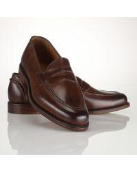Polo Ralph Lauren - Brown Calf Singleton Penny Loafer for Men - Lyst