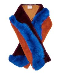 ROKSANDA Blue Latham Fur Scarf