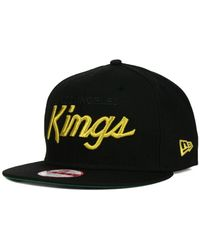 KTZ | Black Los Angeles Kings Team Color 9Fifty Snapback Cap for Men | Lyst