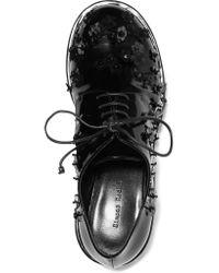 Simone Rocha Black Laced Shoes