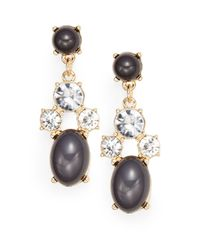 Saks Fifth Avenue | Gray Faux Pearl-accent Drop Earrings | Lyst