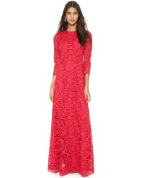 Tory Burch | Pink Lace Gown - Goji | Lyst