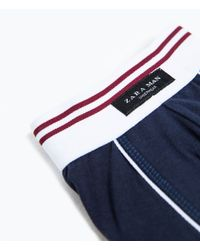 Zara | Blue Contrast Piping Boxer Shorts for Men | Lyst