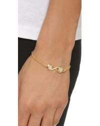 Pamela Love | Metallic Infinite Bracelet - Moonstone/antique Gold | Lyst
