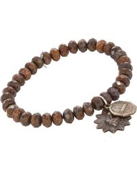 Miracle Icons Natural Bronze Charm Bracelet for men