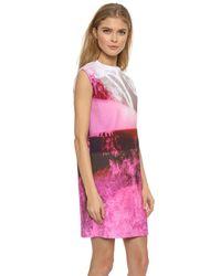 McQ - Box Dress - Haze Pink Print - Lyst