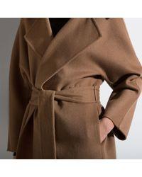 Bally Brown Leather Mac Women ́s Coat In Tabacco