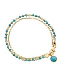 Astley Clarke - Be Very Cool Blue Beaded Friendship Bracelet - Lyst