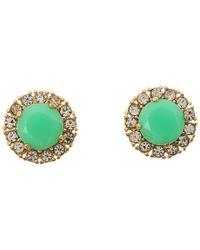 kate spade new york | Green Secret Garden Stud Earrings | Lyst