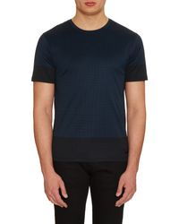 Burberry   Blue Smithurst Square-print Cotton T-shirt for Men   Lyst