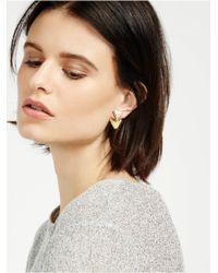 BaubleBar Metallic Organic Fringe Ear Jackets