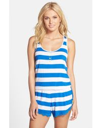 Honeydew Intimates | Blue 'all America' Lace Trim Sleep Romper | Lyst