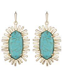 Kendra Scott | Blue Mariah Drop Earrings, Turquoise | Lyst