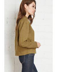 Forever 21 - Green Buttoned Linen Shirt - Lyst