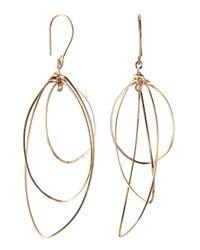 By Philippe - Metallic 14k Gold Fill Oblong Orbital Dangle & Drop Earrings - Lyst